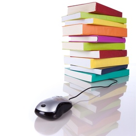 book stack mouse